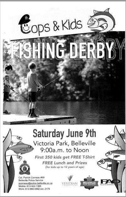 Cops and kids fishing derby